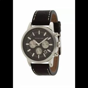 Michael Kors Chronograph Black Leather MK8310